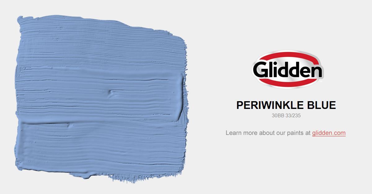 Periwinkle Blue Paint Color Glidden
